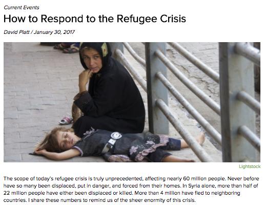 David Platt refugee article
