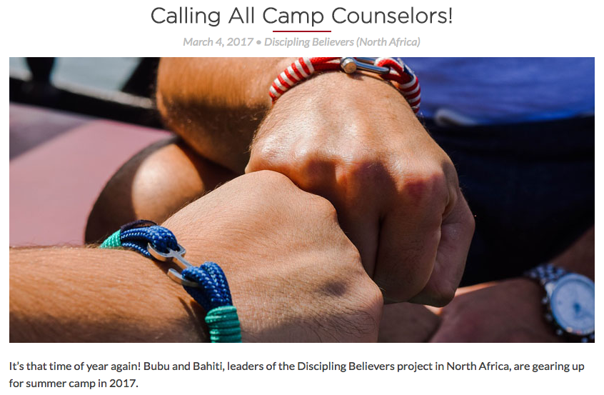 Calling All Camp Counselors